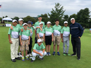 Eddie Wen (far left) and his teammates at the PGA Jr. League Section Championship. Photo/submitted