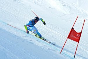 Nick Krause races the Giant Slalom in Park City, Utah. (Photos/Jerry Polukoff)