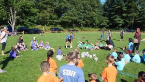 Northborough Preschool Soccer League Coordinator Jack Wong (center) Photo/Melanie Petrucci
