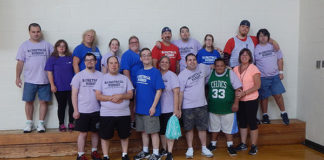 Basketball Buddies of Central Mass. with Coach Christine Lewis (bottom right) Photo/Melanie Petrucci