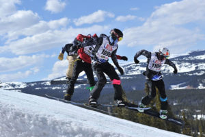 Mikey LaCroix competes at Nationals at Copper Mountain, Colorado in 2015. Photo submitted