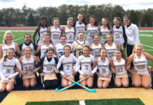 Oak Middle School seventh- and eighth-grade field hockey team