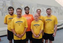 (l to r) Back row: Josh Sargent, Joe Jamros, Matt Roy and Zack Englehart; front row: Colin Davidson and Ryan Dixon. Photo/Melanie Petrucci