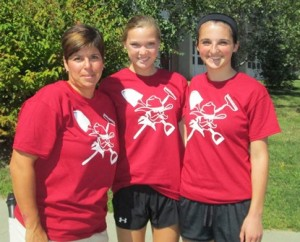 (l to r) WHS Athletic Director Johanna DiCarlo and students Olivia Natale and Katie Bretta Photo/Zenya Molnar
