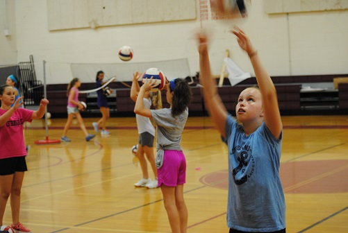 westborough kids enjoy annual volleyball camp community