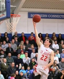 St. John's Nick Lukasevicz goes up for a layup.