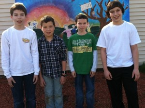 (l to r) Ethan Winer, Jacob Galarza, Daniel Subilosky, and Nathan Moskowitz Photo/submitted