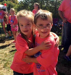 Bella Padula and Brendan Connelly, both age 8, at last year's Buddy Walk.
