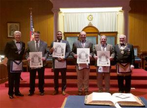 Wor Bill Donahue, Bro Peter Holman, Bro. Mario Lopez, Nro. Mark Carlson, Wor John Carlson