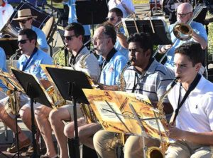 The Westborough Community Band musicians perform. Photos/Ed Karvoski Jr.
