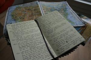 Fitzpatrick's map and journal of his trip. (Photos/Jane Keller Gordon