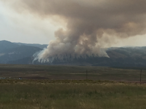 Fitzpatrick took this photo of the wildfires in Wyoming along his trip. (Photo/submitted)