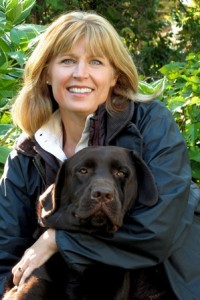 Cathy Zemaitis and 5-year-old Chocolate Labrador Retriever, Sam Brown, who belongs to her niece, Abi Johnson. (Photo/submitted)