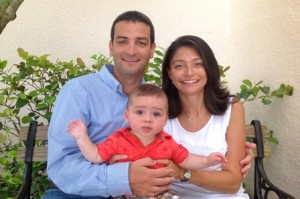Steve Ristuccia, his wife, Liz, and their son, James (Photo/submitted)
