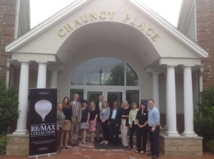 (l to r) Annette Norton, Julie Squires, Doug Stone, June Hillier, Mary Christensen, Tim Foley, Mary Foley, Ananth Ram, Sandy Mayer, Sandy Grace, Marcia Pessana and Mike Gallagher at the newly opened RE/MAX Real Estate Center in Westborough. (Photo/submitted)