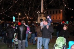 Residents of all ages enjoy the annual Rotary Club of Westborough Festival of Light. (File photo/Bonnie Adams)