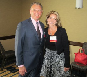 Lester Hensley, CEO of Emseal Joint Systems, Ltd., and Debi Heims, president of H&S Environmental, Inc. Photo/Bonnie Adams