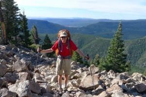 Westborough resident Scott Shumway enjoying one of his many hikes.