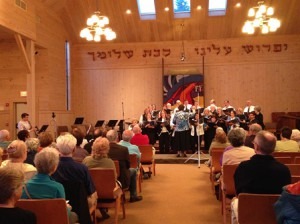 Shir Joy Chorus performs for an audience at Congregation B'nai Shalom in Westborough. (Photo/Alex Cornacchia)