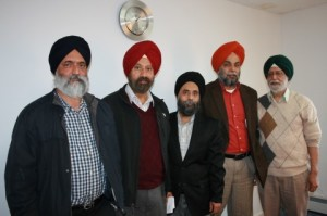 5.Leaders, left to right: Anup Singh Khatra (engineer), Amandeep Singh (secretary), Malkit Signh Gill (president), Sukhjinder Singh Bajwa (building committee chair), Jasbir Singh Gandhi (architecture)