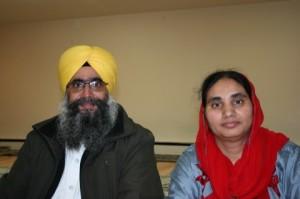 Priest Ramgupal Singh and his wife, Harminder Kaur