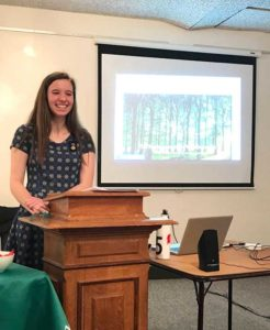 Victoria Helle gives a presentation about her website at the Westborough Library. Photo/submitted