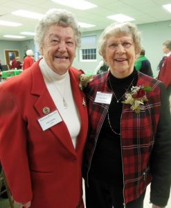 Past president honorees Joan Ames (left) and Janet Harvey. Photos/Nance Ebert