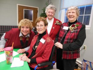 Current co-presidents of the Westborough Women's Club, Karen Bloom and Cory Fenton (front), with Joan Ames and Janet Harvey.