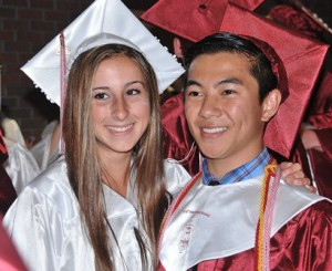 Allyson Ledoux and Sean Chau pose for a photo for a friend.