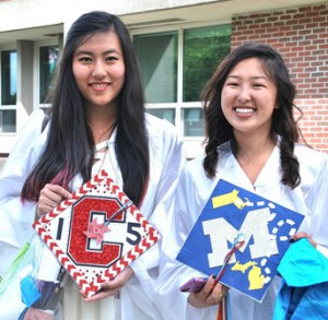 Michelle Cheng is ready to attend Cornell University and Jen Hu is going to the University of Michigan.
