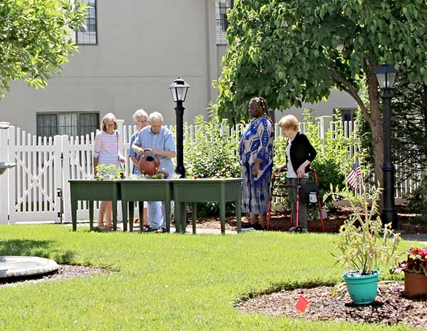 Whitney Place collaborates with Westborough Garden Club
