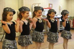 Dancers lined up for a performance.