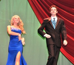Amy Kaiser escorts Jack Kinsman in the formal wear category.