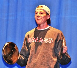 Connor Joyce plays the cymbals in the talent category.