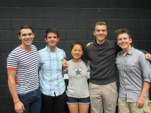 Westborough High School All-National Honors Ensemble students Christopher LaMountain, Jesse Scheinbart, Enya Truong, Benedict Hensley, and Joel Reske. (Photo/submitted)