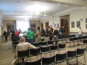 The Board of Selectmen's meeting room