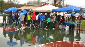 Despite the cold and rainy weather, the seventh annual Marlborough Earth Day Fair drew a small crowd.