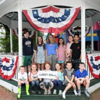 Local children thank Swirls & Scoops for contributing the ice cream for the Community Ice Cream Social. Photo/submitted