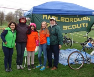 Girl Scouts organized several exhibits and a bike drive that collected 26 used bikes to be refurbished and donated. (l to r) Niti Kapoor, Kim Bollieau, Nishi Kapoor, Amber Bollieau and Bonny Goldberg. (Photo/submitted)