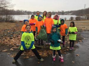Girl Scout Troop 11571 at Jordan Pond