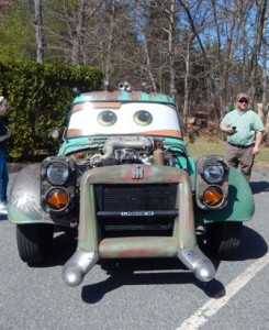 """Event participants could get inside a """"Mater"""" replica from sponsor Armory Motor Storage"""