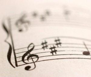 music notes music sheet_CROP