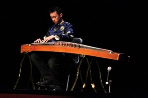 David Ma performs the Chinese harp to