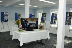 A display inside the building.