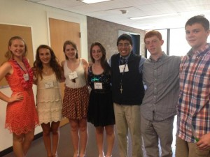Local participants in this summer's Rotary Youth Leadership Awards weekend: (l to r) Marissa Moquin, Molly Reilly, Riley Gardner, Michala Sockol, Carlos Santom, Jon Gross and Matt Pickering. Photo/submitted