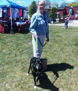 Diane Smith with her dog, Neferititi